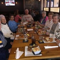 Seniors eating Lunch out at Assisted Living in Tavares Florida