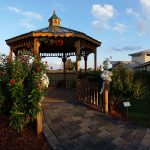 Gazebo outside Assisted Living Center at The Cove at Tavares Village in Tavares, FL